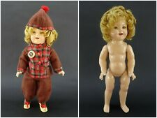 """18"""" Ideal Shirley Temple Doll & World's Darling Pin 1930s Vintage Winter Clothes"""