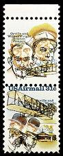Stamp Rarity US #C91 C92 31c Wright Bros 1978 Vert Pair Missing Blue Errors MNH