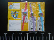 ♥ Barbie 3 Watch Blue Orologio + Tessera Fun Club Promo Vintage ♥ Mattel Rare
