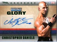 TNA Christopher Danies 2013 Impact Wrestling GLORY GREEN Autograph Card SN 1 / 5