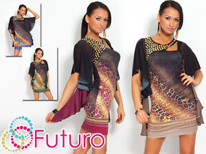 Exclusive & Unique Tunic with snake pattern Oriental Style Party Dress FC4135