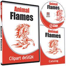 Animal Flames Clipart Vinyl Cutter Plotter Images Eps Vector Clip Art Cd