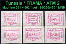 Tunesien Frama ATM 2 * machine 001 + 002 * set S1 MNH * Automatenmarken * CVP