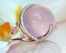 Gorgeous Women Pink Moonstone Gemstone Ring 18K Rose Gold Filled Wedding Sz 6-10