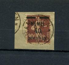 """Memel - Stempel """"Ramutten"""" auf Nr. 22  Briefstück   (D785)"""