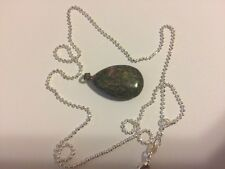 Natural Quartz Crystal Semiprecious Stone  Pendant + chain as shown in the pic