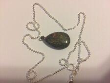 Natural Quartz Crystal Semiprecious Stone  Pendant + chain as shown in the pic