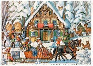 Vintage Advent Christmas Calendar Korsch Verlag West Germany 10326 NOS Hanitzsch