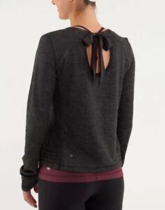 NICE🍀Lululemon 8 Sattva Pullover Merino Wool French Terry Tencel - Black $108