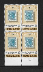 1979 Sierra Leone - Death Centenary of Sir Rowland Hill - Block of Four - MNH.