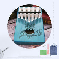17 Key Kalimba Thumb Piano Finger Mbira Mahogany Wood Keyboard Music Device HOT