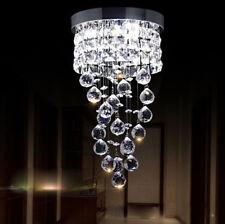 Aisle Crystal Chandelier Pendant Lamp Spiral Ceiling Light Lighting Fixture