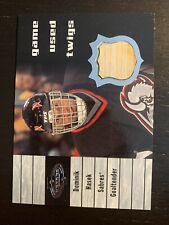 2000 01 Upper Deck Heroes T-DH Dominik Hasek Game Used Twigs Buffalo Sabres