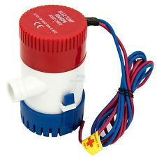 12V 500 GPH Bilge Pump Marine Submersible Water Pump Boat Sump Pump