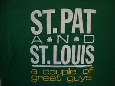 Vintage St. Patrick's Day Pat And St. Louis A Couple Of Great Guys T Shirt XL