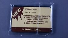 Survival Card Multitool New in Package