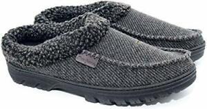 Dearfoams Men's Slippers Memory Foam Black Sizes 7 8 9 10 11 12 13 14