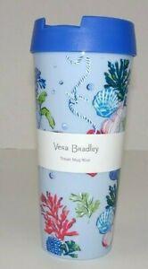 Vera Bradley Anchors Aweigh 16 oz. Travel Mug NEW Cup