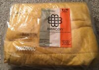 Vintage Monterey Beacon Gold Blanket, 72x90, New In Package
