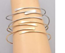 Women's Trendy Thin New Style Gold Silver Overlap Cuff Bangle Jewellery Gift UK