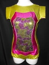 NEW!  GORGEOUS sequined DANCE JAZZ TAP ROMPER ~ LARGE CHILD