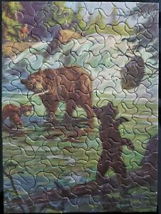 Vtg Tuco Picture Puzzle 200+ Pcs Complete Time to Retreat c1930's Hintermeister