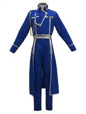 Full Metal Alchemist Roy Mustang Cosplay Costume Military Uniform