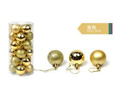 48PCS Christmas Tree Xmas Balls Decorations Baubles Party Wedding Ornament 3cm