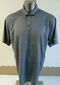 Mens NIKE Golf Polo Shirt Size XL Gray Fit Dry Polyester Short Sleeve 838965-065