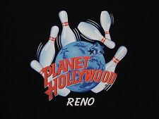 Planet Hollywood Reno Bowling Logo Souvenir Casino Restaurant Black T Shirt L/XL