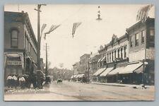 3rd Street STERLING Illinois RPPC Rare Antique ML Photo Chicago Postcard 1912