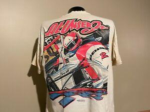 AL UNSER JR vintage 90s Indycar t-shirt XL distressed Indianapolis 500 Penske