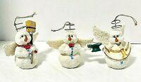 House of Lloyd Snowmen Angel Christmas Ornaments Lot of 3 Boxed