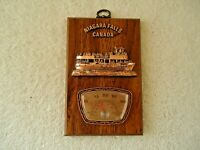 """Vintage Niagara Falls Canada Wooden Plaque Thermometer """" BEAUTIFUL COLLECTIBLE """""""
