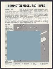 Remington Model 580 Rifle Exploded View Parts List 2-page Assembly Article