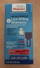 Walgreens Lice Killing Shampoo 4 oz W/ Nit Removal Comb Step 1 Exp 01/19 (AU)