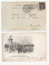 9) 1900 World Exhibition during Olympic Games card cancel Paris Expo.INVALIDES