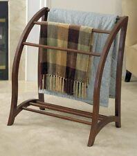 Quilt Rack Blanket Stand Towel Hanger Storage Display Wood Antique Walnut NEW