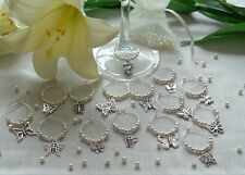 Wine Glass Charms ideal for Wedding Favors, Gifts, mixed  butterflies