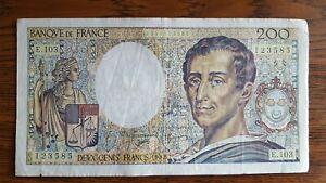 billet 200 FRANCS MONTESQUIEU