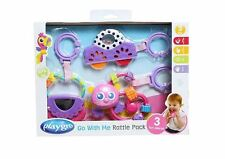 Playgro Go with Me Rattle Pack for Baby - Purple