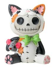 New Furrybones Furry Bones Calico Cat Mao Mao Skull Skeleton Figurine Gift 8408