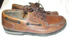 Clarks Active Air Leather Boat Deck Shoes Size UK  9 1/2 US 10 1/2