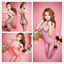 Sexy Lingerie Fishnet Bodystocking Crotchless Open Crotch Stocking Nightwear 067