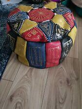 Moroccan pouffe Genuine Leather Footstool Multicoloured Samba poufe pouf New