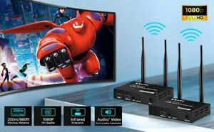 Smart Pro HDMI Wireless Extender HDMI Transceiver Set Kit 100 m Infrarot-Fernbed