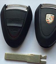 COQUE DE Clé Porsche 911 Cayman Boxster Cayenne télécommande cas shell key 2BTNS