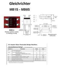 25x SMD Brückengleichrichter Gleichrichter 600V 0,5A MB6S Toshiba mini