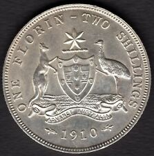 1910   TWO SHILLING (FLORIN) COIN -  UNCIRCULATED   CONDITION