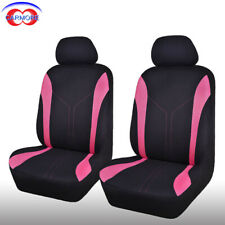 2 Front Pink Universal Seat Covers Set - Polyester Mesh Breathable Washable